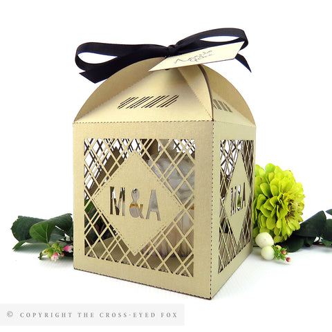 Modern Geometric Extra Large Favour Box | Cupcake Box