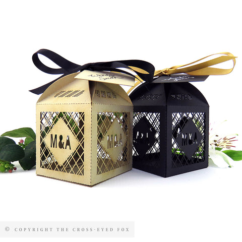 Modern Geometric Personalised Favour Boxes