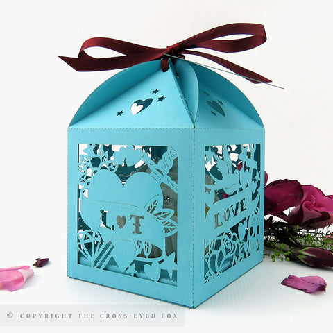 Rockabilly Extra Large Favour Box | Cupcake Box