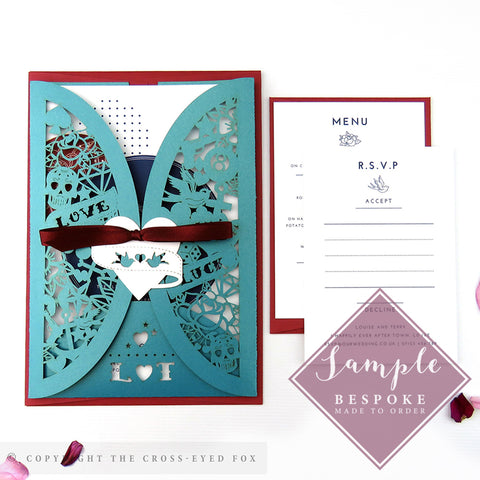 Rockabilly | Sample Set Wedding Invitation & Jacket