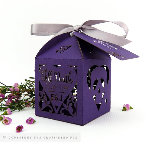 Simply Skulls Personalised Wedding Favour Boxes