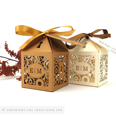 Steampunk Personalised Favour Boxes