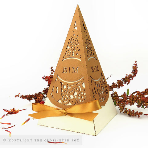 Steampunk Pyramid Personalised Favour Boxes