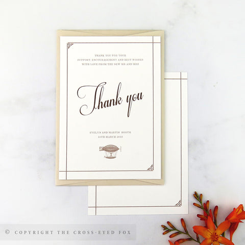 Steampunk Wedding Thank You Cards