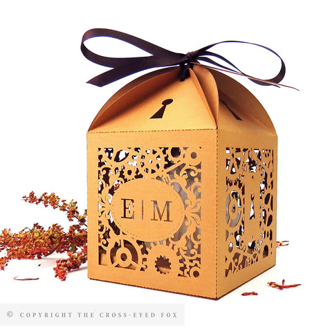 Steampunk Extra Large Favour Box | Cupcake Box