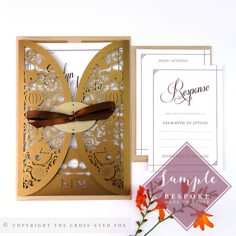 Steampunk | Sample Set Wedding Invitation & Jacket