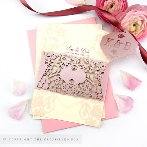 Vintage Roses | Sample Set Full Collection | Laser Cut Wedding Stationery