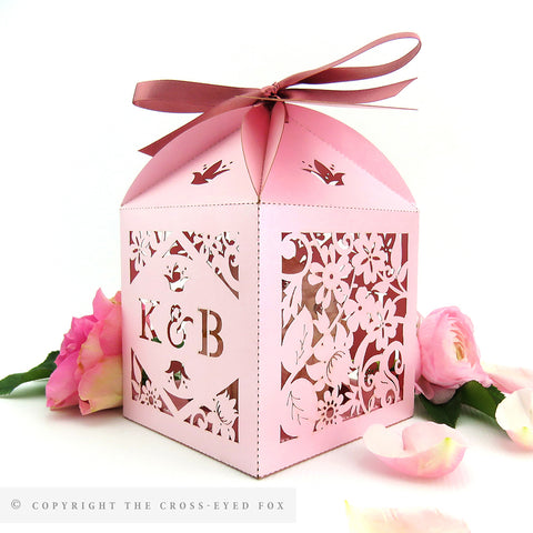 Vintage Roses Extra Large Favour Box | Cupcake Box