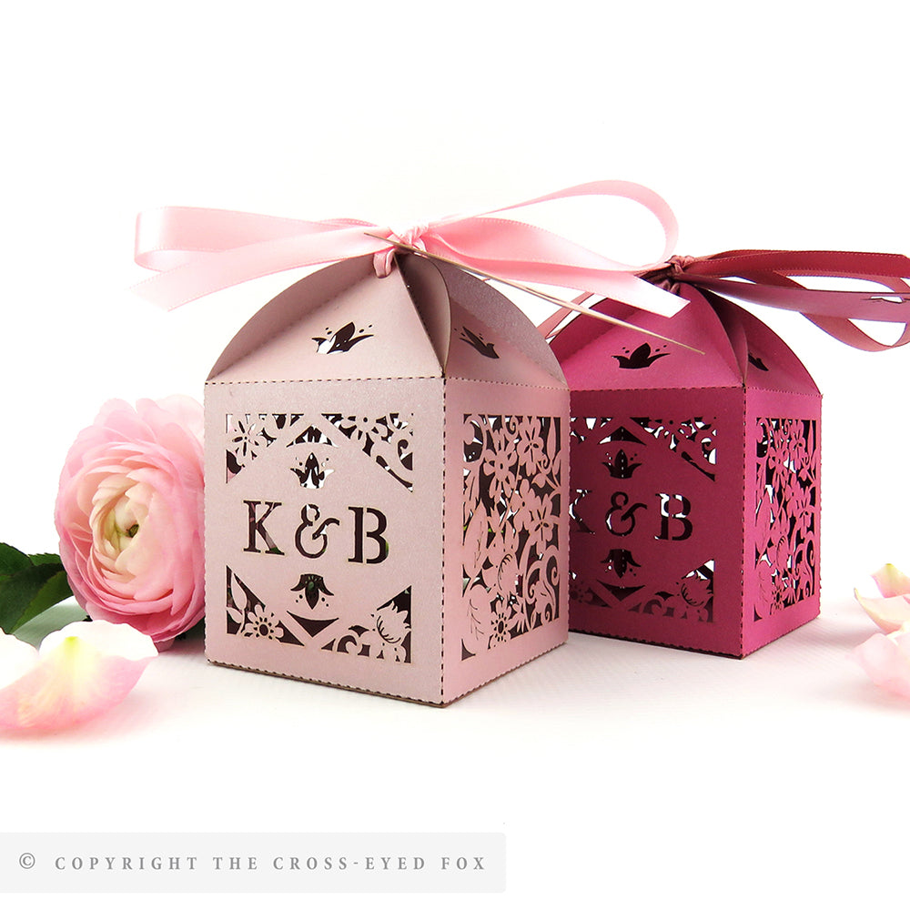Vintage Roses Personalised Favour Boxes – The Cross-Eyed Fox