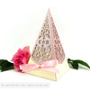 Vintage Roses Pyramid Personalised Favour Boxes
