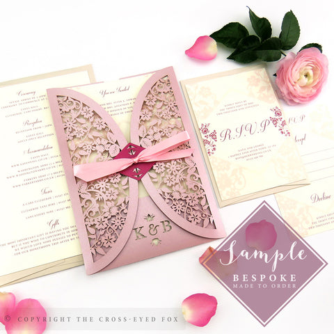 Vintage Roses | Sample Set Wedding Invitation & Jacket