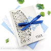 Winter Snowflakes Wedding Invitation Single Fold Jacket