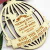 Birdcage Wooden Save the Date