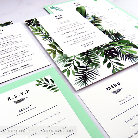 Botanical Wedding | Sample Set Wedding Invitation & Belly Band