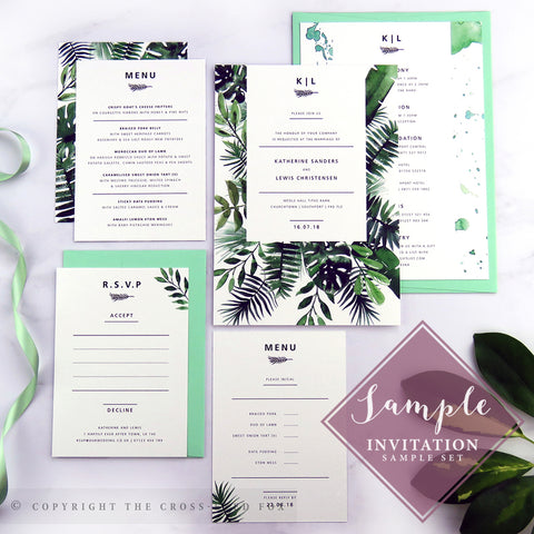 Botanical | Sample Set Printed Wedding Invitations