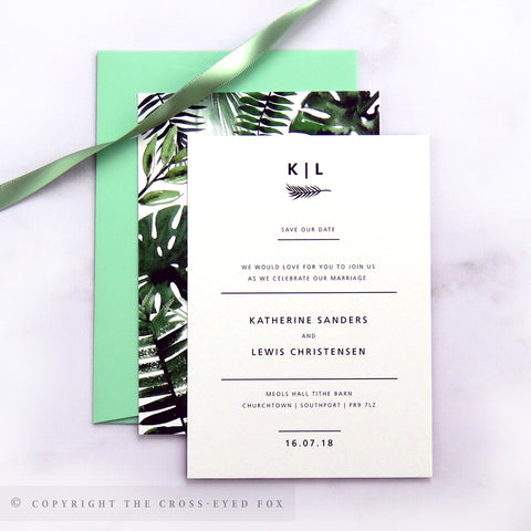 Botanical Wedding Save the Date Cards