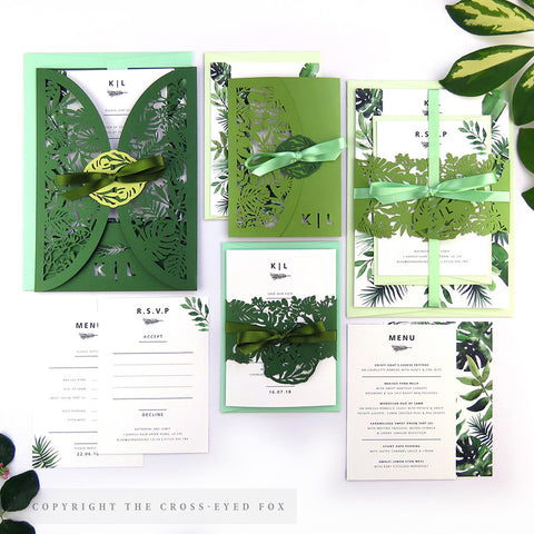 Botanical | Sample Set Full Collection | Laser Cut Wedding Stationery