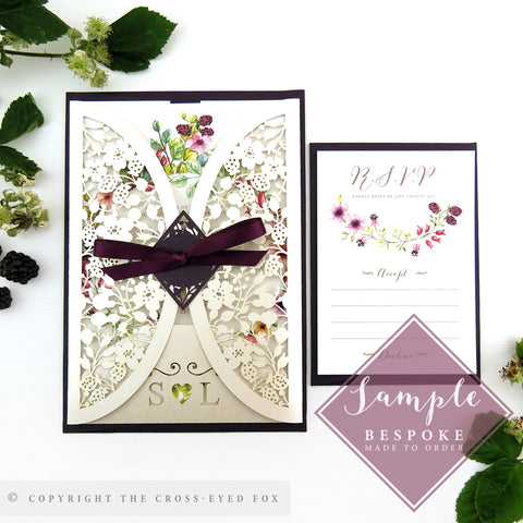 Country Brambles | Sample Set Wedding Invitation & Jacket