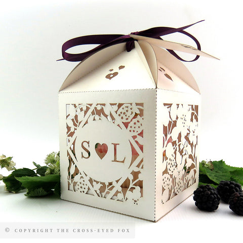 Country Brambles Extra Large Favour Box | Cupcake Box