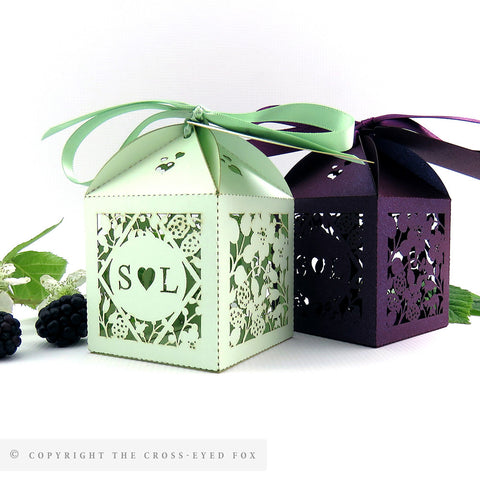 Country Brambles Personalised Favour Boxes