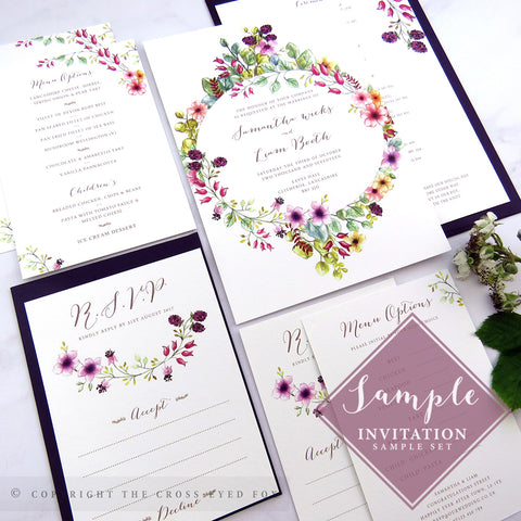 Country Brambles | Sample Set Printed Wedding Invitations