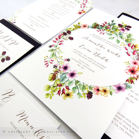 Country Brambles Wedding Invitations