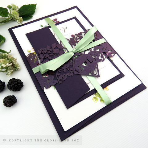 Country Brambles | Sample Set Full Collection | Laser Cut Wedding Stationery