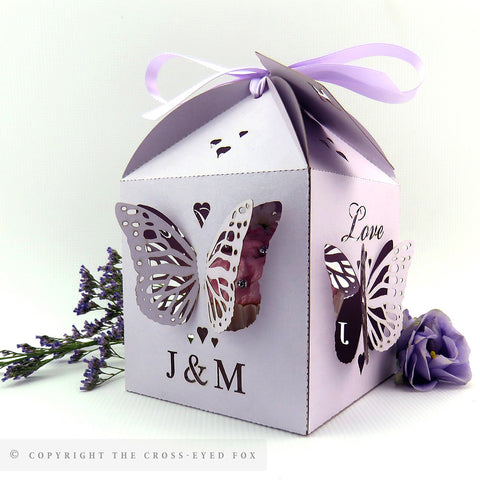 Folding Butterflies Extra Large Favour Box | Cupcake Box