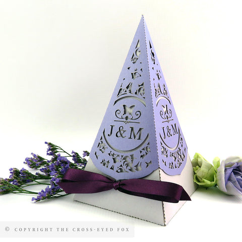 Butterfly Pyramid Personalised Favour Boxes