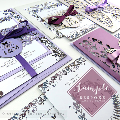Romantic Butterfly | Sample Set Full Collection | Laser Cut Wedding Stationery