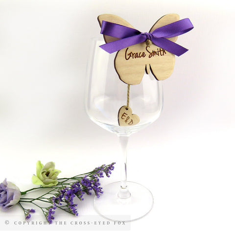 Butterfly wooden place setting