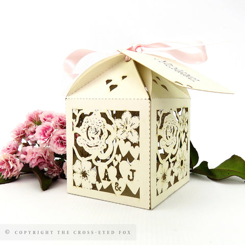 Classic Floral Personalised Favour Boxes