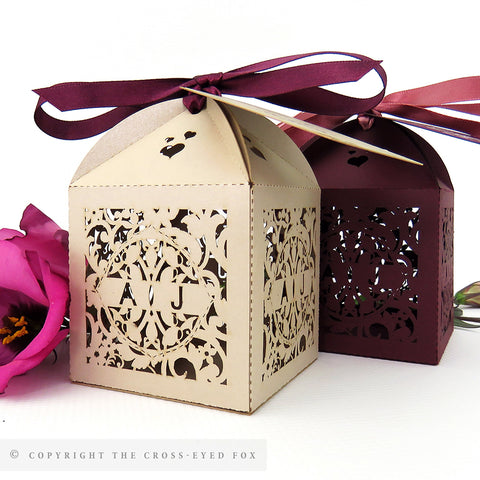 English Country Garden Personalised Favour Boxes