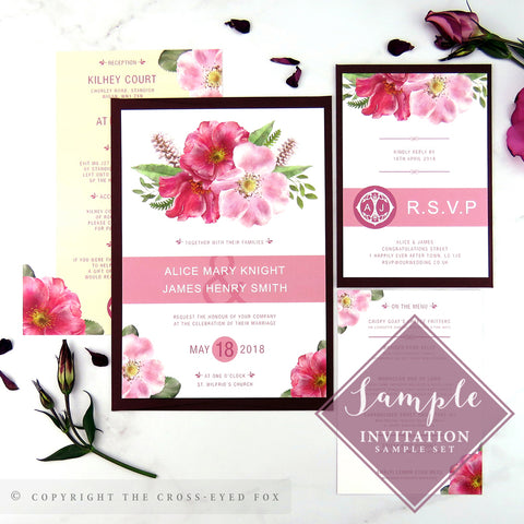 English Country Garden | Sample Set Printed Wedding Invitations