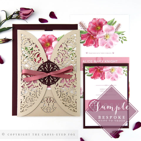 English Country Garden | Sample Set Wedding Invitation & Jacket