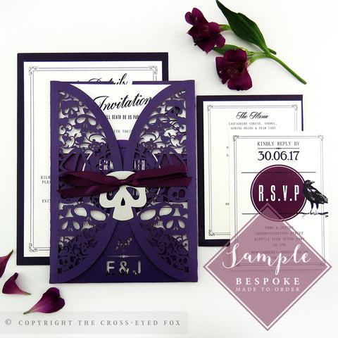 Gothic Skulls | Sample Set Wedding Invitation & Jacket