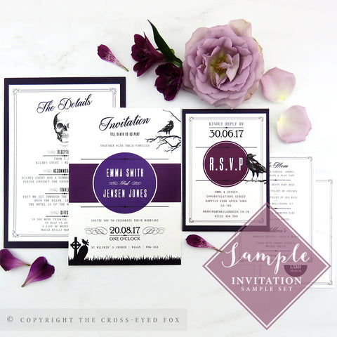 Gothic Skulls | Sample Set Printed Wedding Invitations