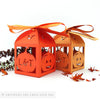 Pumpkin Halloween personalised favour boxes