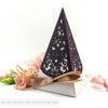 Vintage Love Birds Pyramid Personalised Favour Boxes