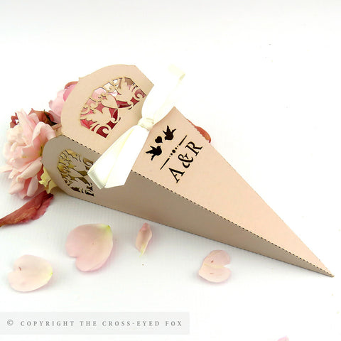 Vintage Love Birds Confetti / Sweet Cone