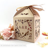 Vintage Love Birds Extra Large Favour Box | Cupcake Box