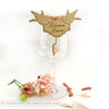 Love birds wooden place setting
