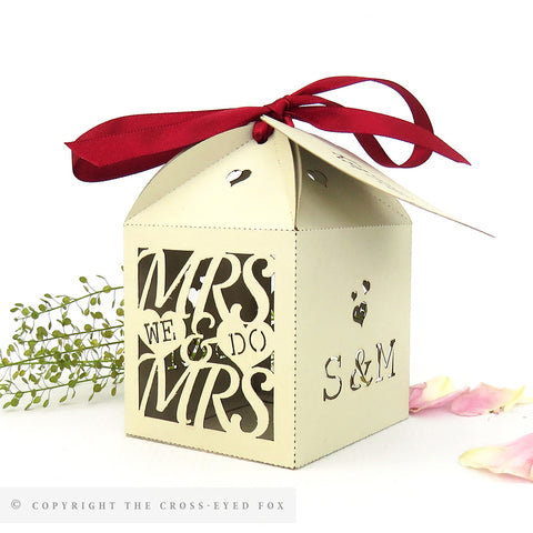 Mrs & Mrs Personalised Favour Boxes
