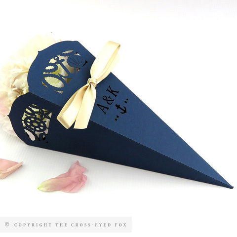 Nautical Confetti Cones