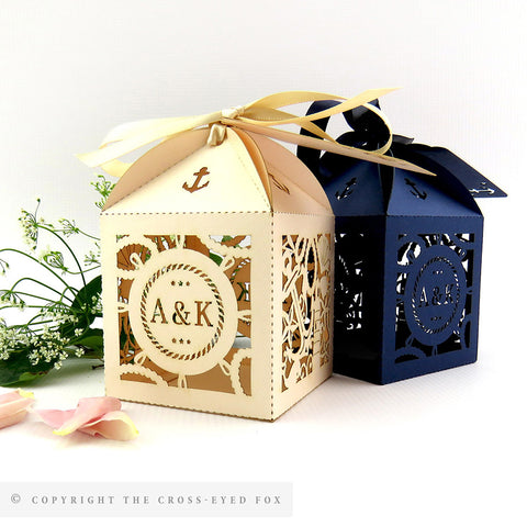 nautical wedding favour box
