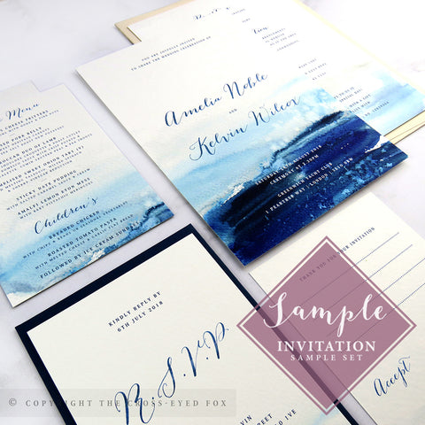 Nautical | Sample Set Printed Wedding Invitations