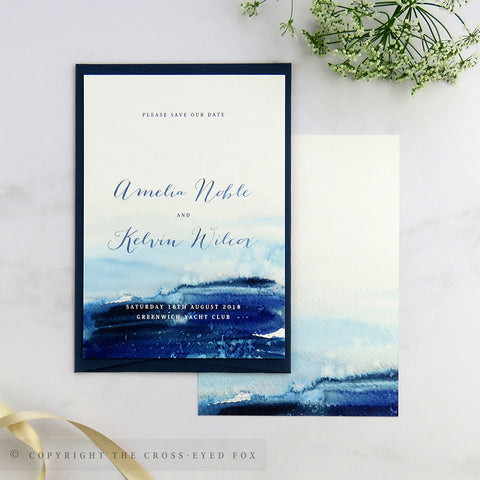 Nautical Wedding Save the Date Cards