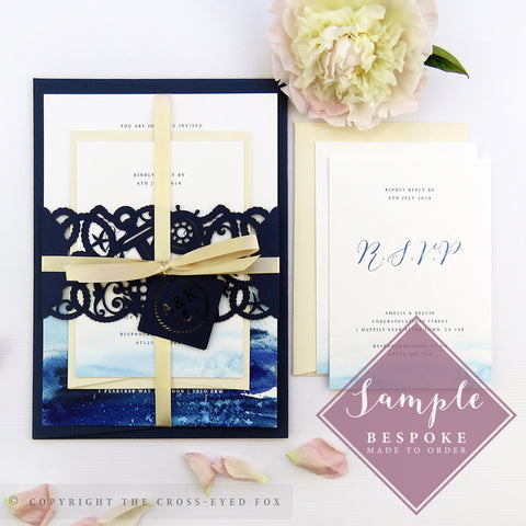 Nautical | Sample Set Wedding Invitation & Belly Band