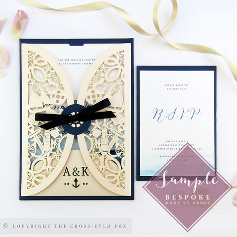 Nautical | Sample Set Wedding Invitation & Jacket