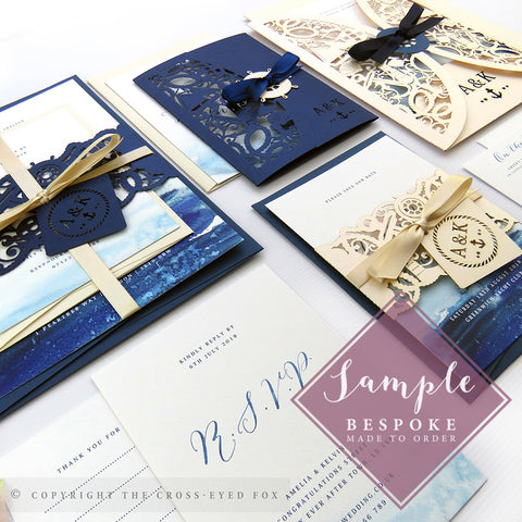 Nautical | Sample Set Full Collection | Laser Cut Wedding Stationery
